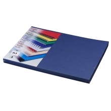 Covers Embossed leather-imitating A3 royal blue