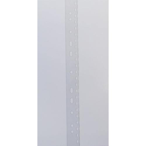 "Filing Strip 2:1"" / 23 Holes  -  PVC transparent, 300 mic -  Holes 3,5 mm x 5,5 mm"