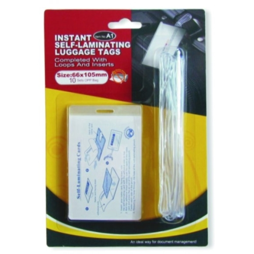 Instant Self-Laminating Luggage Tag - PET