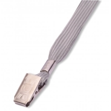 Lanyard LILY with clip grey