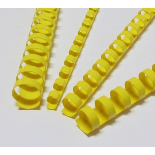 Plastic combs 22 mm yellow