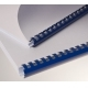Plastic combs 38 mm blue, oval