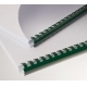 Plastic combs 8 mm green