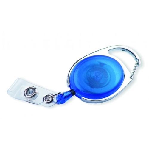 Translucent badge reel OVAL blue